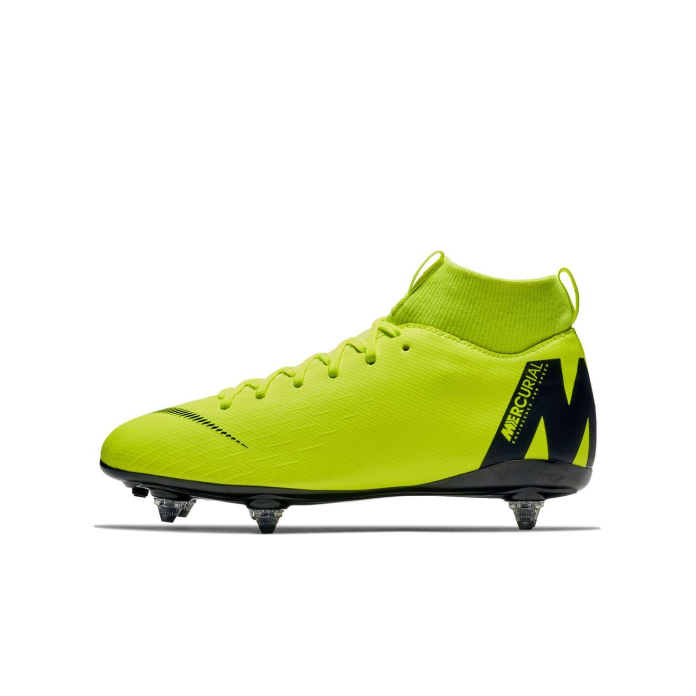 Détails sur Nike Mercurial Superfly Academy Souple Sol Football Bottes Juniors Crampons de