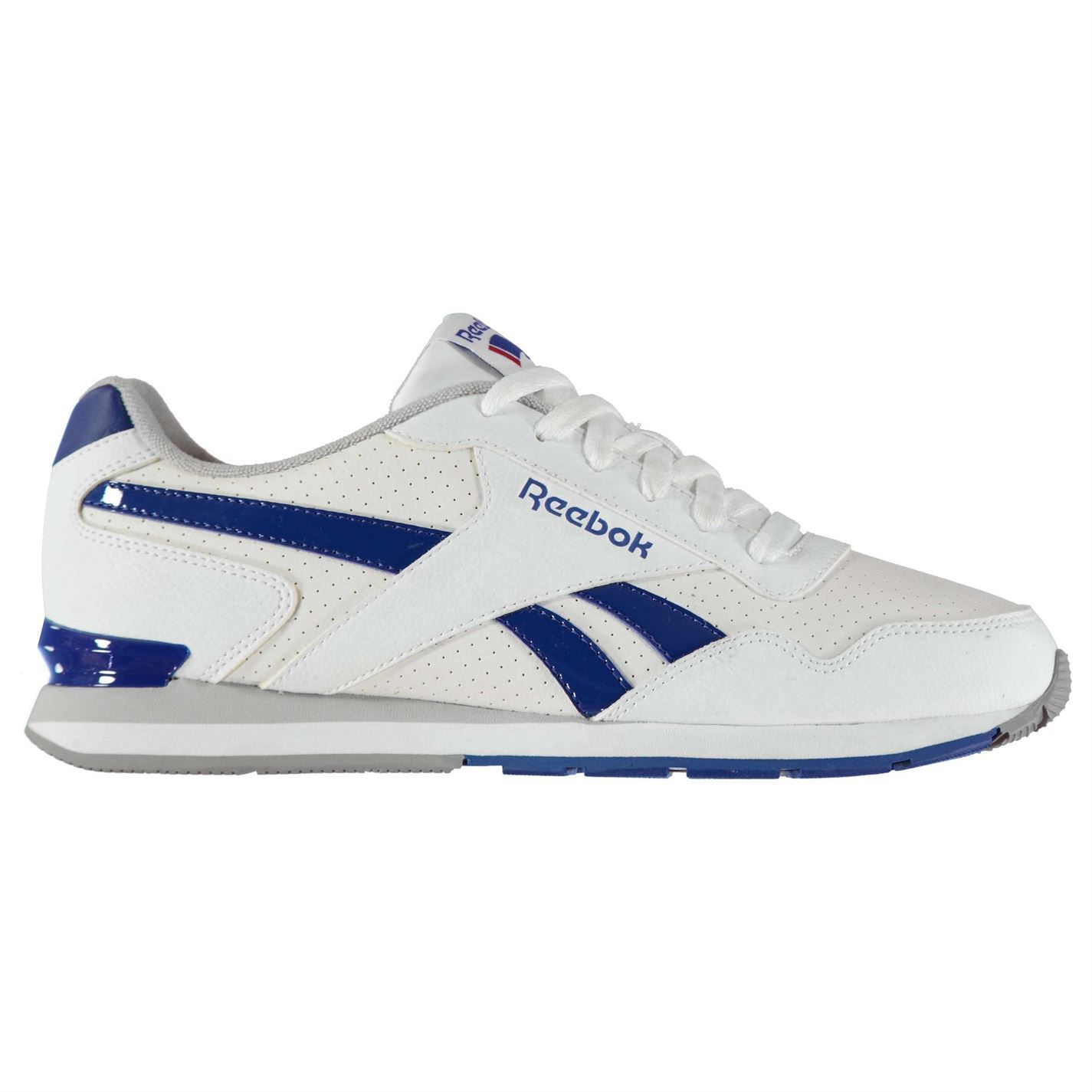Details about Reebok Royal Glide Clip Perforated Trainers Mens Athleisure Shoes Sneakers