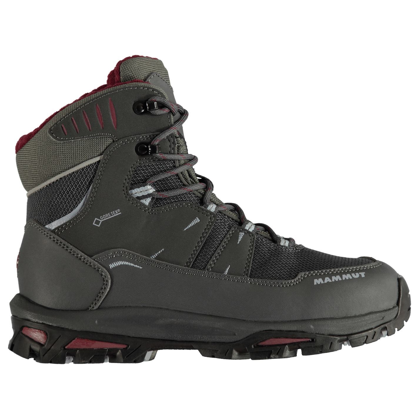 sale retailer 37685 a7ed1 Details about Mammut Runbold GTX Walking Boots Womens Grey Hiking Trekking  Shoes