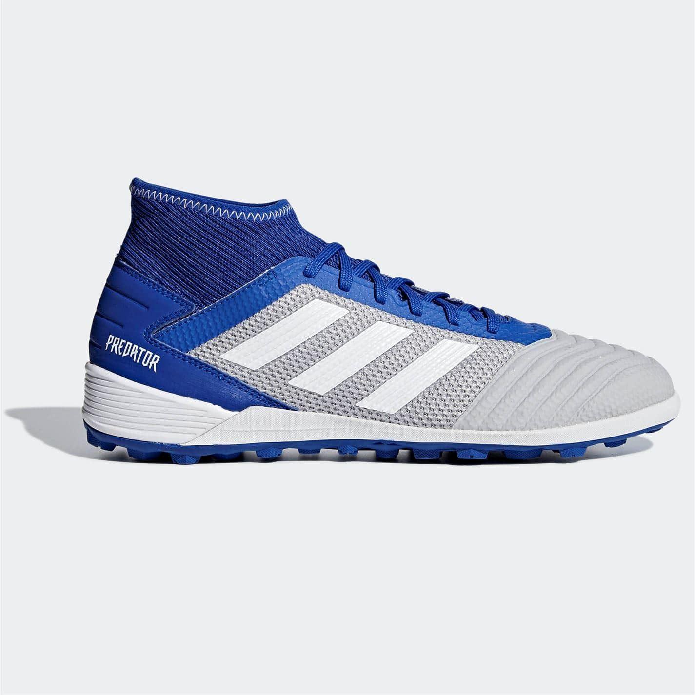 Details about adidas Predator 19.3 Astro Turf Football Boots Mens WhiteBlue