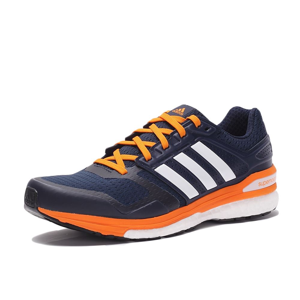 a7d30d9e0 ... adidas Supernova Sequence Boost 8 Running Shoes Mens Navy Wht Trainers  Sneakers ...