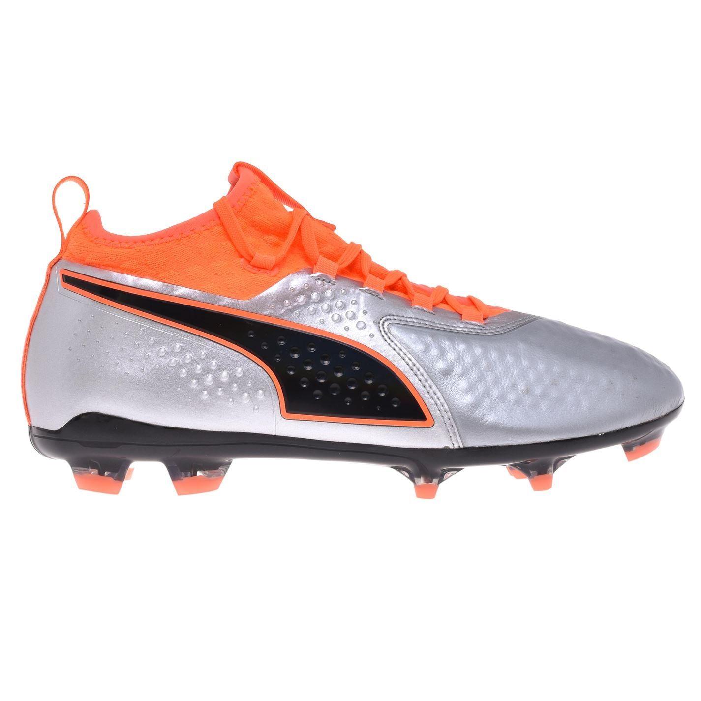 miniature 9 - Puma-One-2-Cuir-engins-fixes-Terre-Ferme-Chaussures-De-Football-Homme-Chaussures-de-foot-crampons