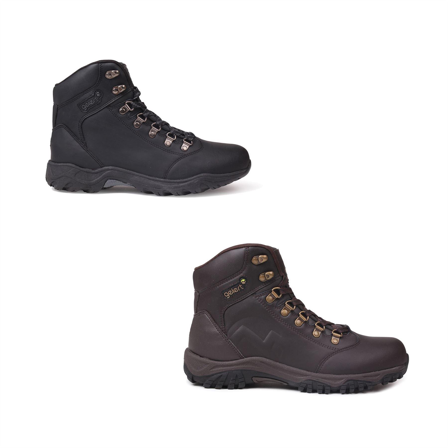 Détails sur Gelert Cuir Marche Bottes Hommes Randonnée Trekking Chaussures Chaussures