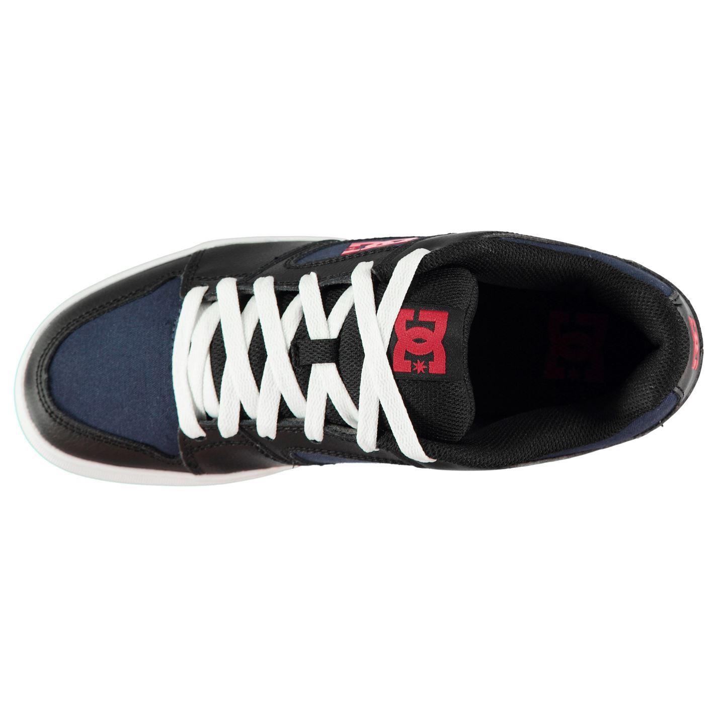 3e162cd2f7 DC Blitz II Skate Shoes Mens Navy/Black/Red Skateboarding Trainers Sneakers