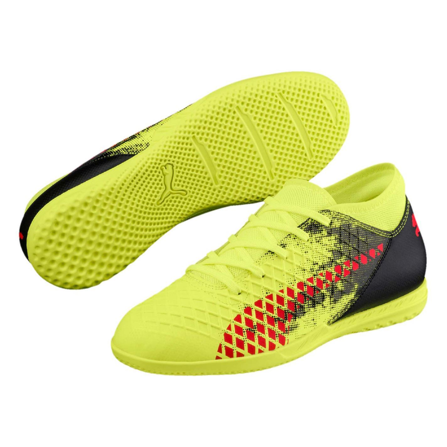 b1219efdf64d8 Details about Puma Future 18.4 Indoor Football Trainers Juniors Yellow  Soccer Shoes Sneakers