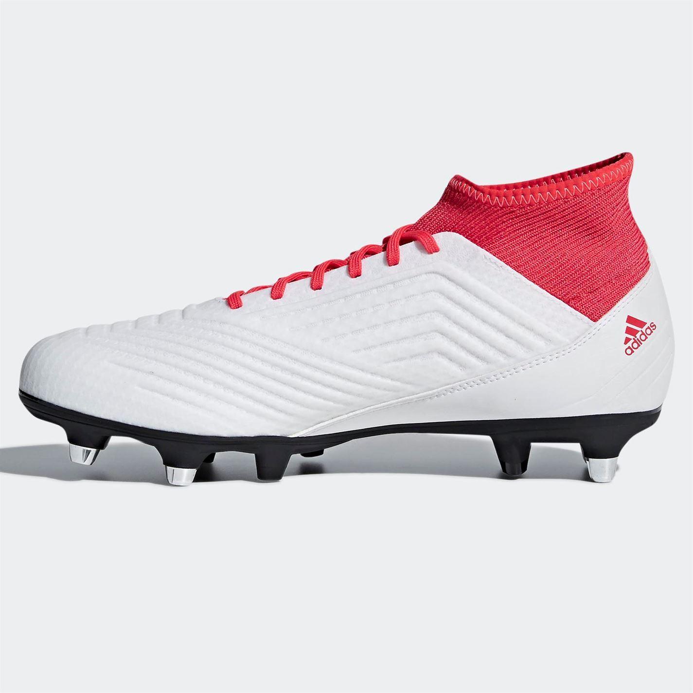 273d99f956d4c ... Adidas Predator 1 8.3 suave tierra fútbol botas para hombre blanco rojo  futbol tacos