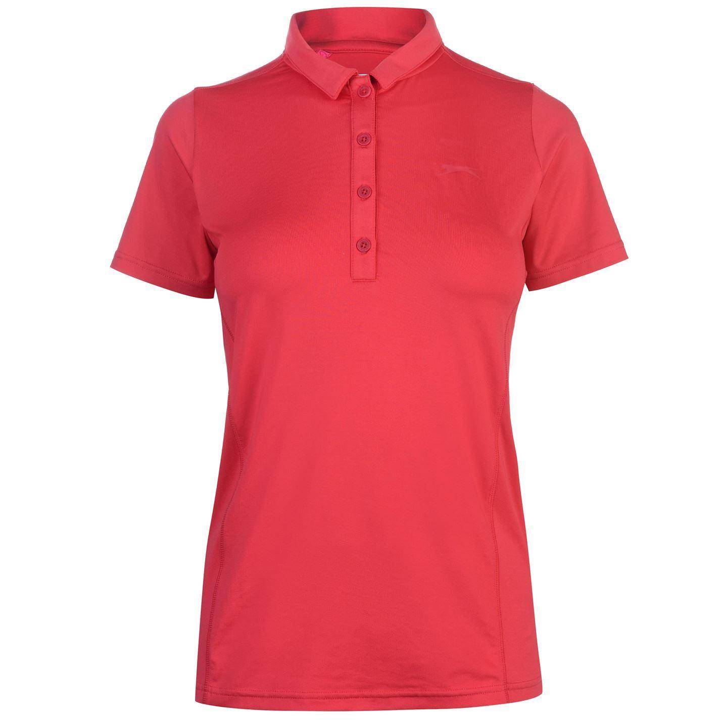 Slazenger-Plain-Golf-Polo-Shirt-Womens-T-Shirt-Top-Tee-Activewear miniature 8