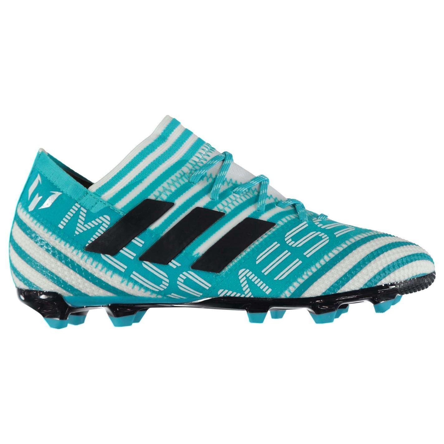 f50ff0837 ... adidas Nemeziz Messi 17.1 Firm Ground Football Boots Juniors Blue  Soccer Cleats ...
