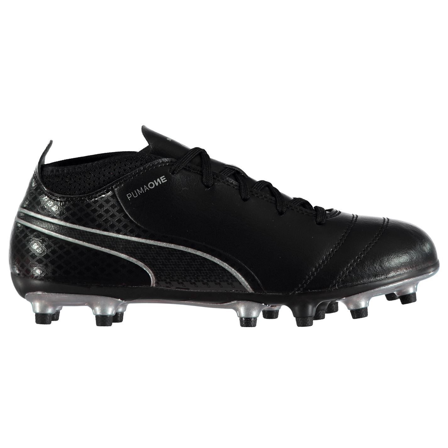 ... Puma One 17.4 FG Firm Ground Football Boots Childs Black Soccer Shoes  Cleats ... 03a3e4157