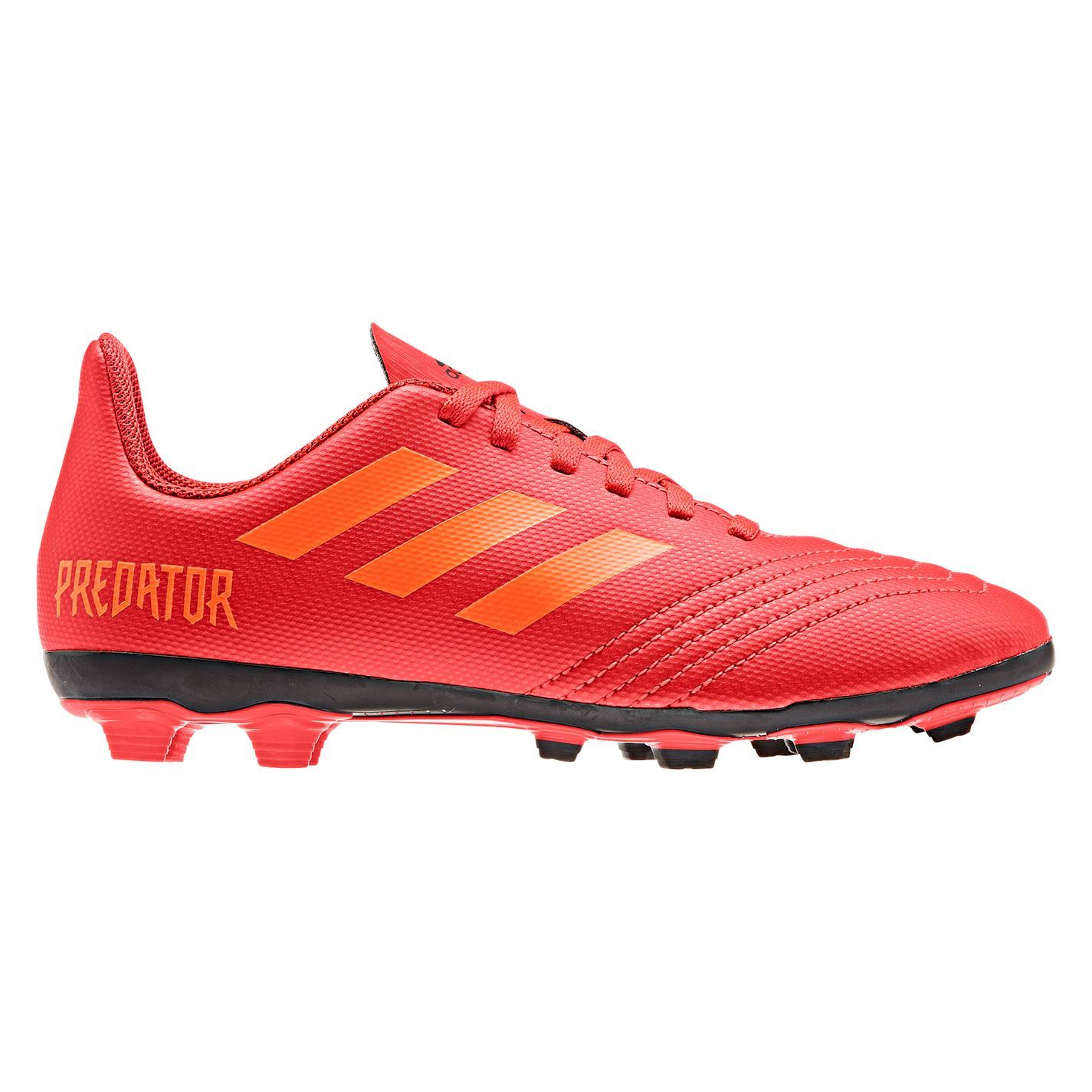 the latest cbcb2 7a8fc ... adidas Predator 19.4 FG Firm Ground Football Boots Childs Red Soccer  Cleats ...