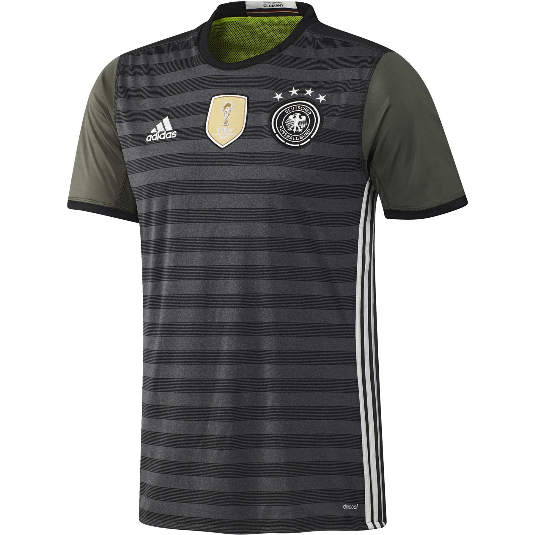 4455f40c5 adidas Germany Away Jersey 2016 2017 Mens Grey Football Soccer Shirt ...