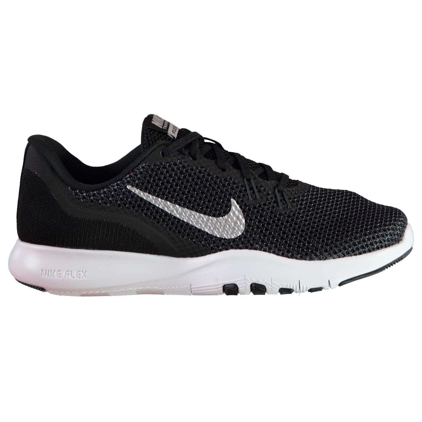 Nike Flex Trainer 7 Fitness Training Shoes Womens Black/White Trainers Sneakers
