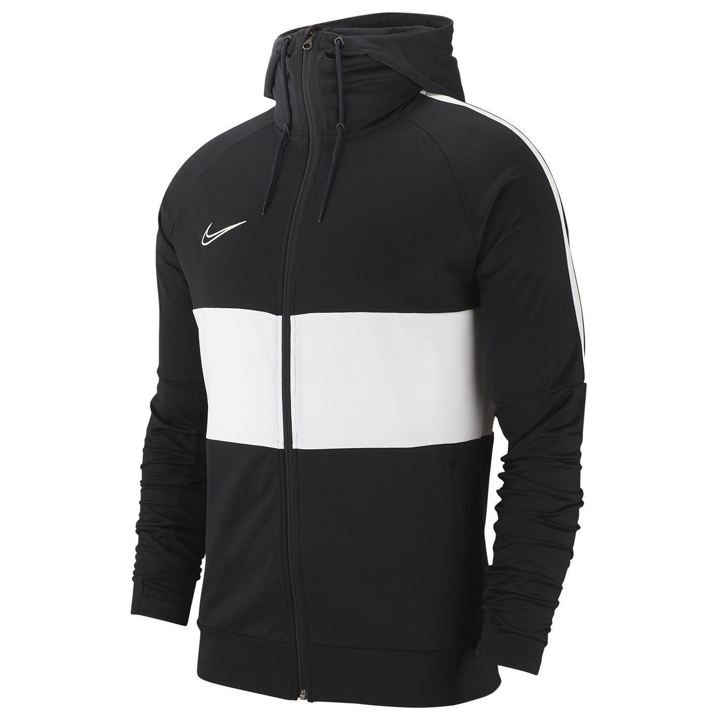 Détails sur Nike Academy Sweat Capuche Zip Intégral Hommes NoirBlanc Veste Pull