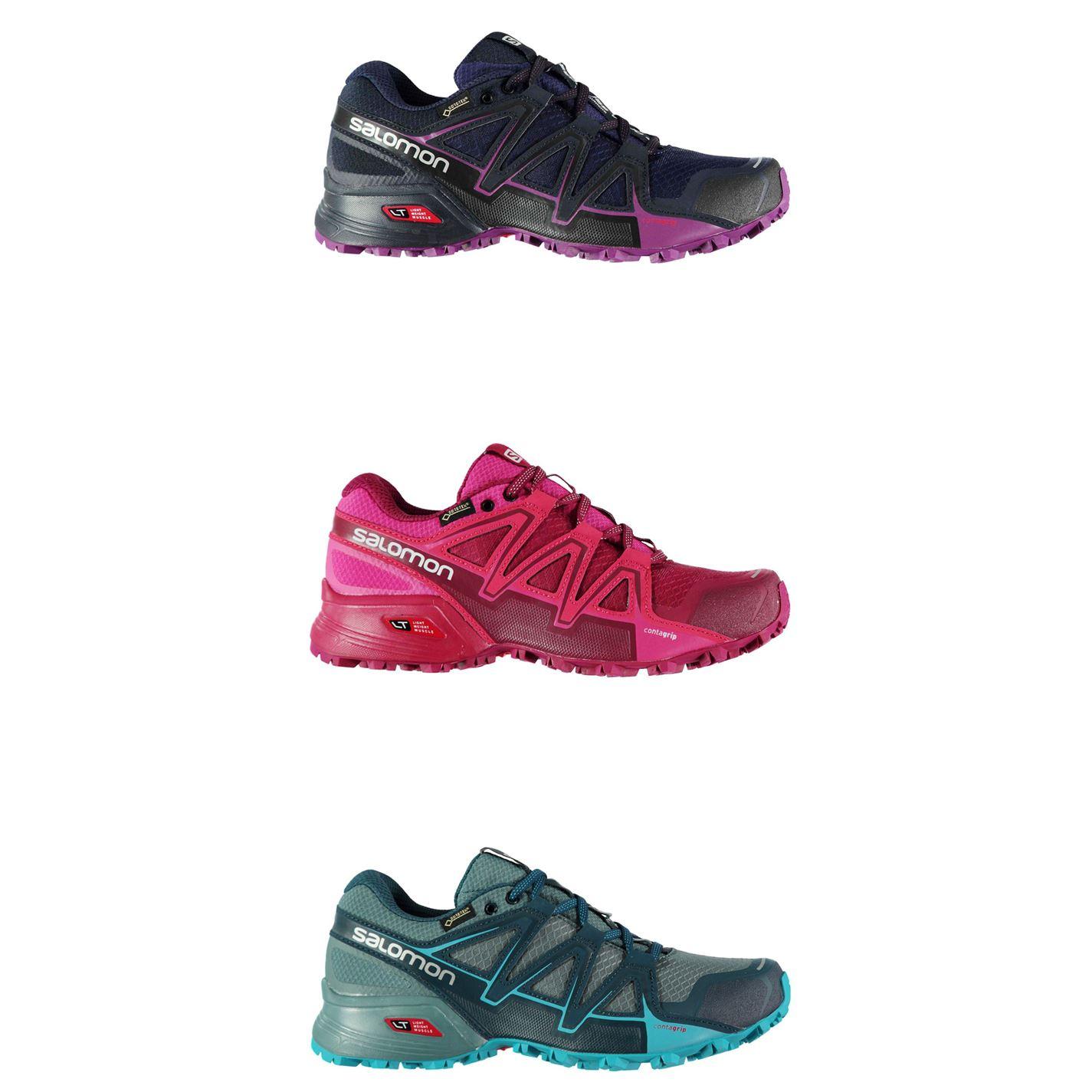 Détails sur Salomon Speedcross V GTX Trail Chaussures De Course Femme Fitness Baskets Baskets afficher le titre d'origine