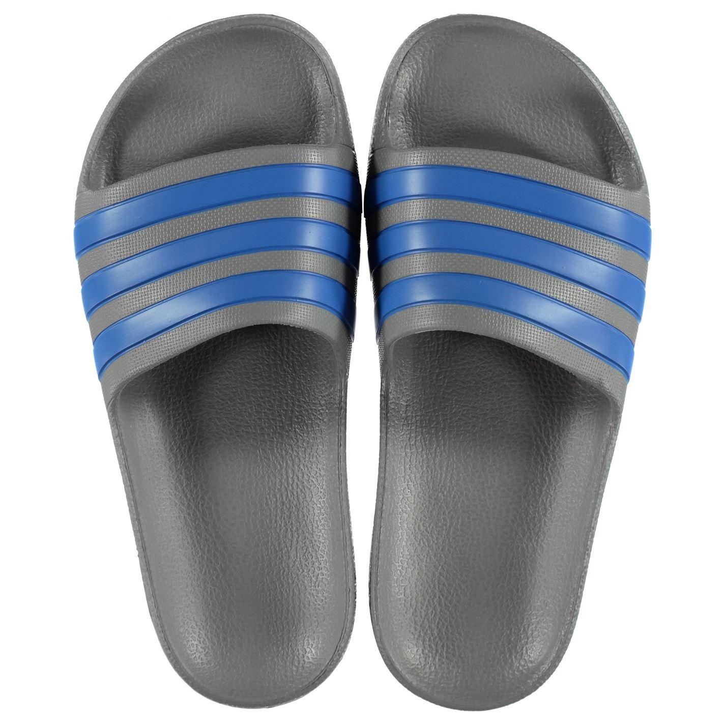 miniatura 18 - ADIDAS-Duramo-Slide-Piscina-Scarpe-Bambino-Ragazzo-Sandali-Infradito-Spiaggia-Scarpe-Thongs
