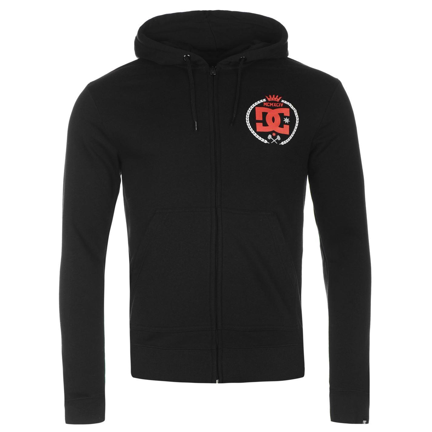 DC-Shoe-Co-Sledge-Full-Zip-Hoody-Jacket-Mens-Hoodie-Sweatshirt-Sweater-Top thumbnail 3