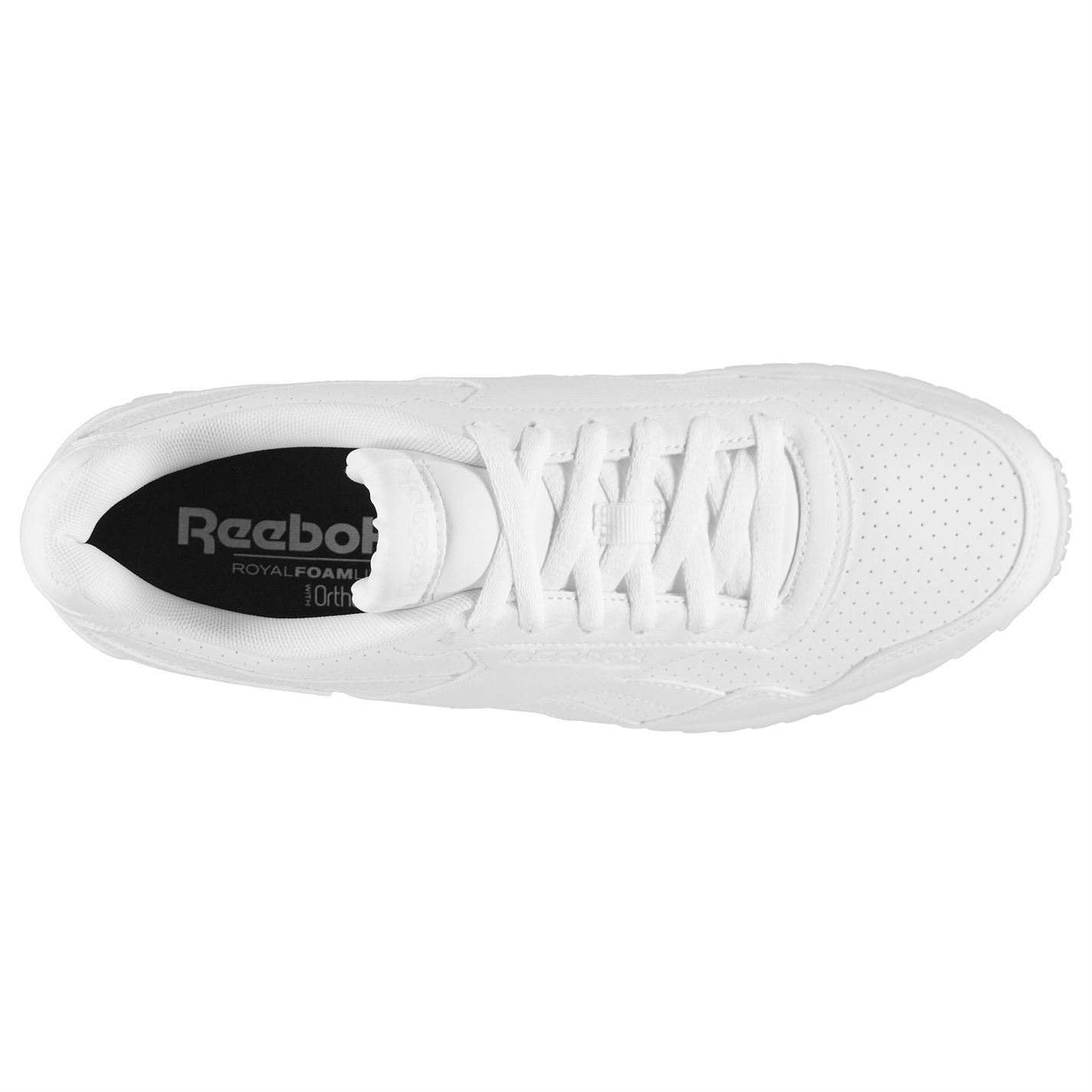 ... Reebok Royal Glide Ripple Clip Trainers Mens White Sports Shoes Sneakers 1b3f484bd