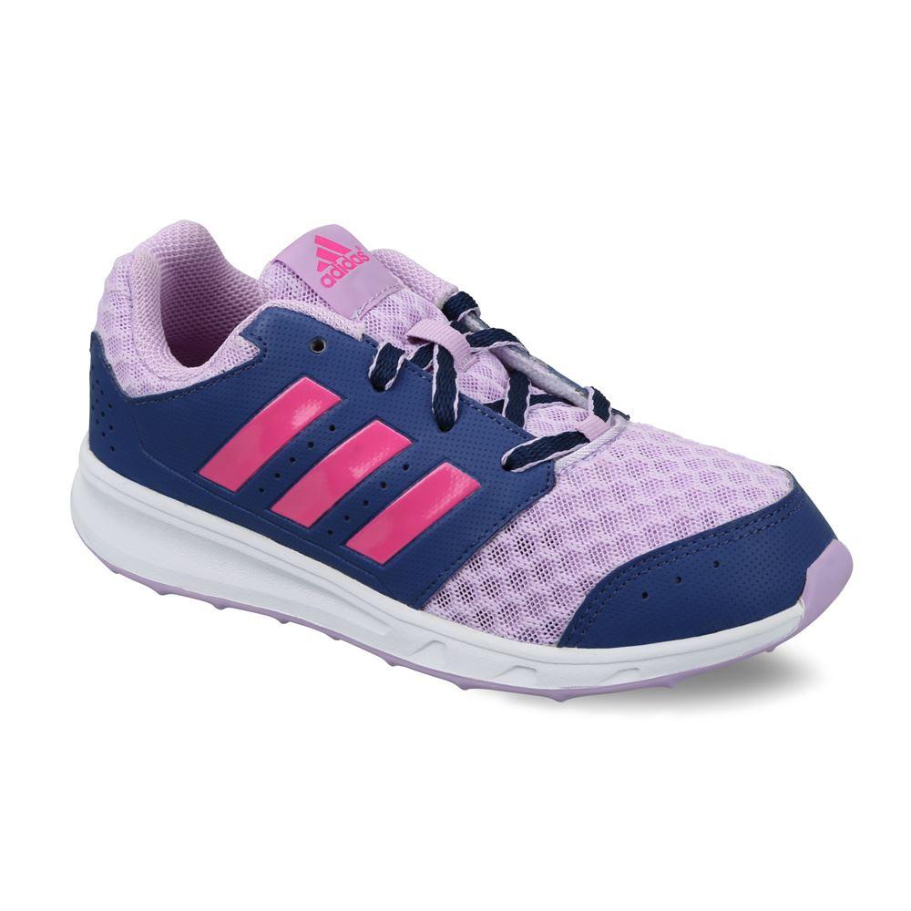 ba20420bda47 adidas LK Sport 2 Running Shoes Junior Girls Purple/Blue Trainers Sneakers