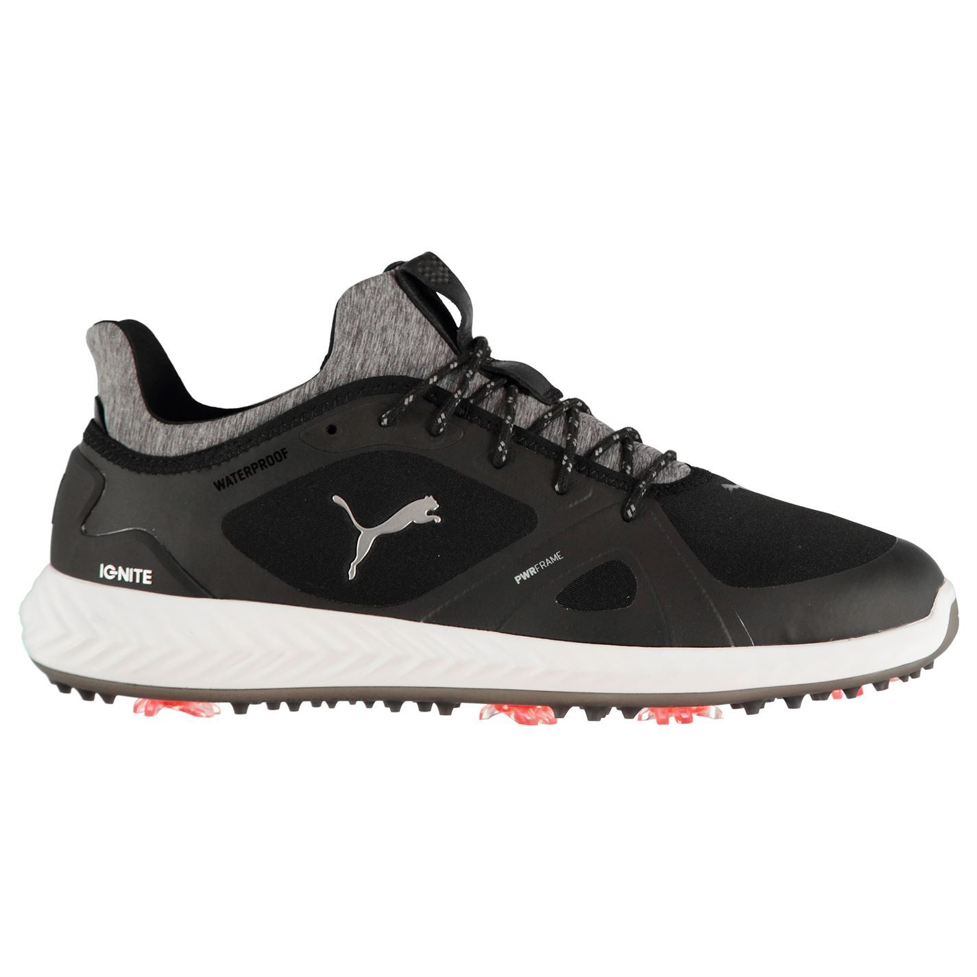 Puma Ignite PWR Adapt Spiked Golf Shoes Mens Black Spikes