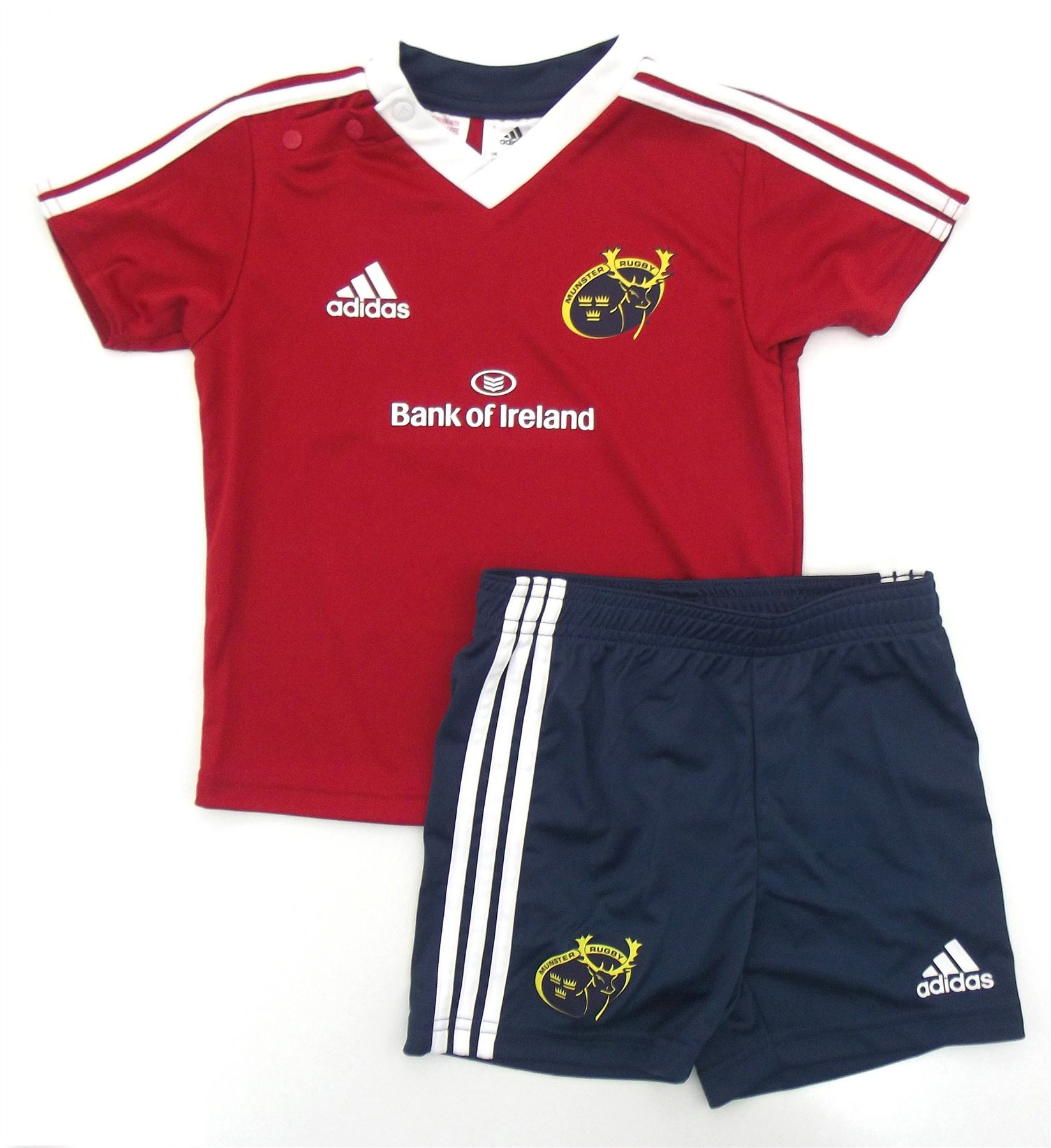 f5b5b87d7 ... adidas Munster Rugby Home Baby Kit Infants Red/Navy Jersey Shorts Set