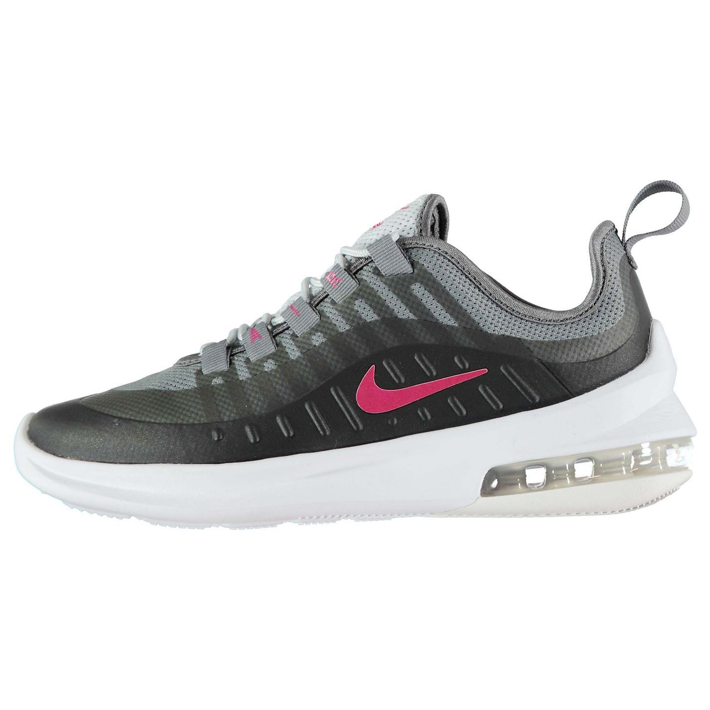 0239236d84ff ... Nike Air Max Axis Trainers Junior Girls Black Pink Shoes Footwear ...