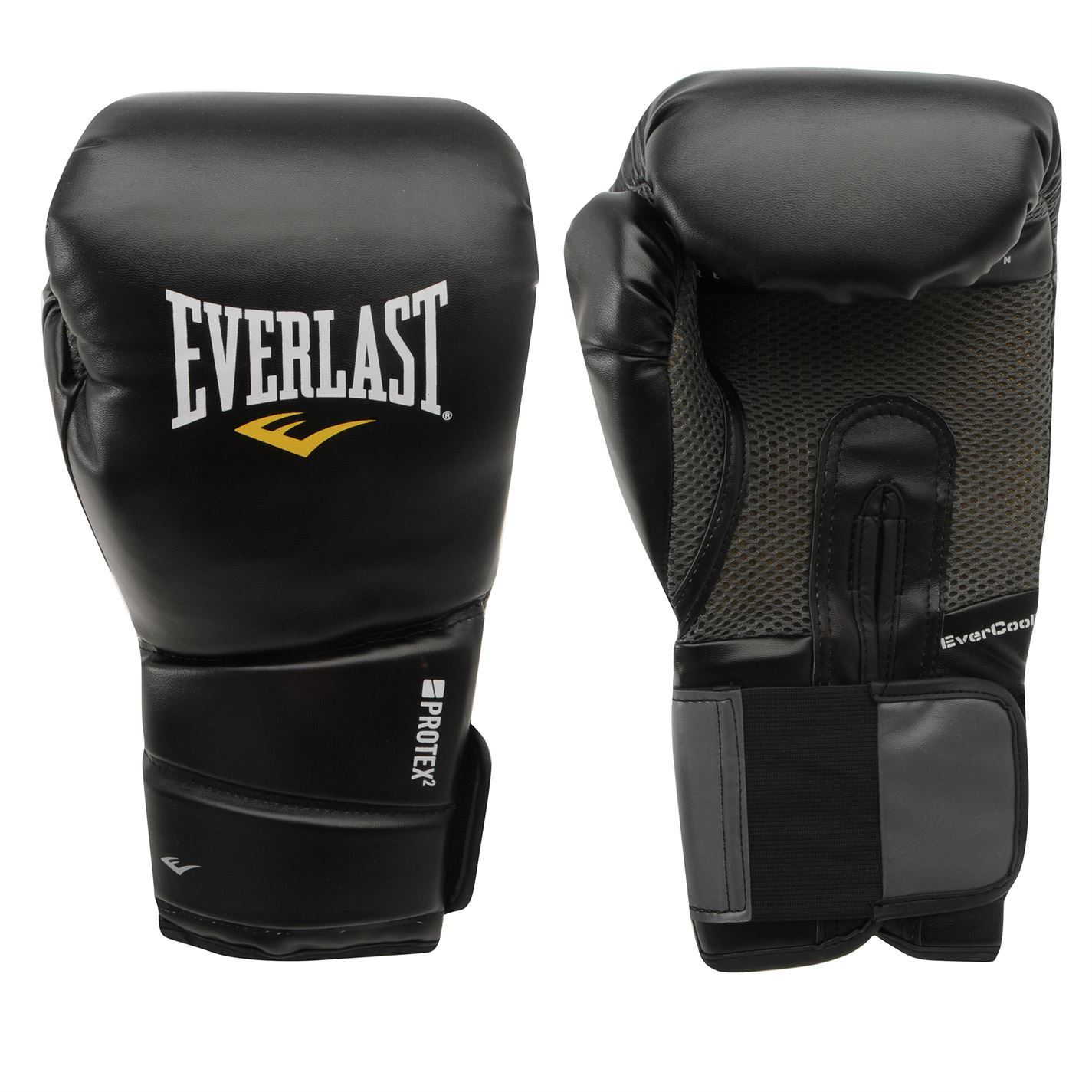 Black Everlast Evercool MMA Kickboxing Gloves