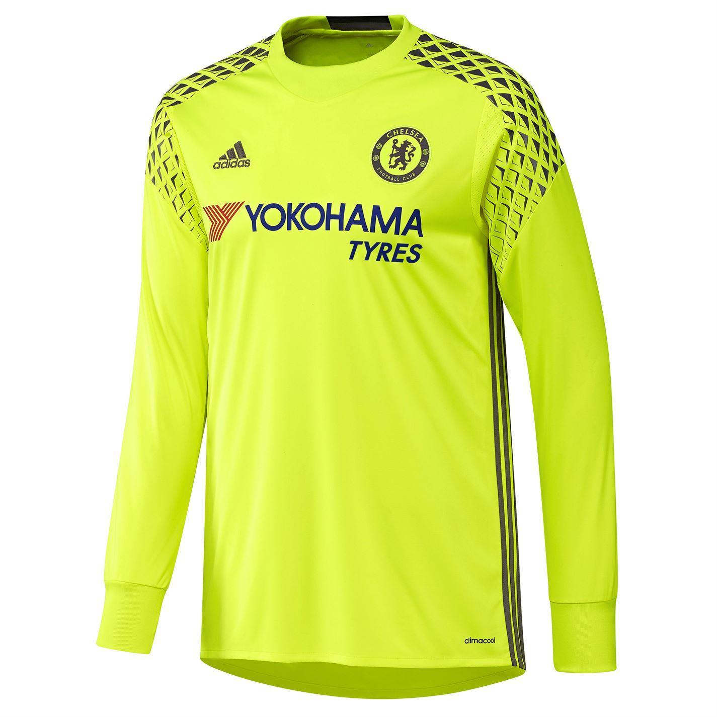 8abe88b87 ... Adidas Chelsea FC Home Goalkeeper Jersey 2016 2017 Mens Yellow Football  Soccer