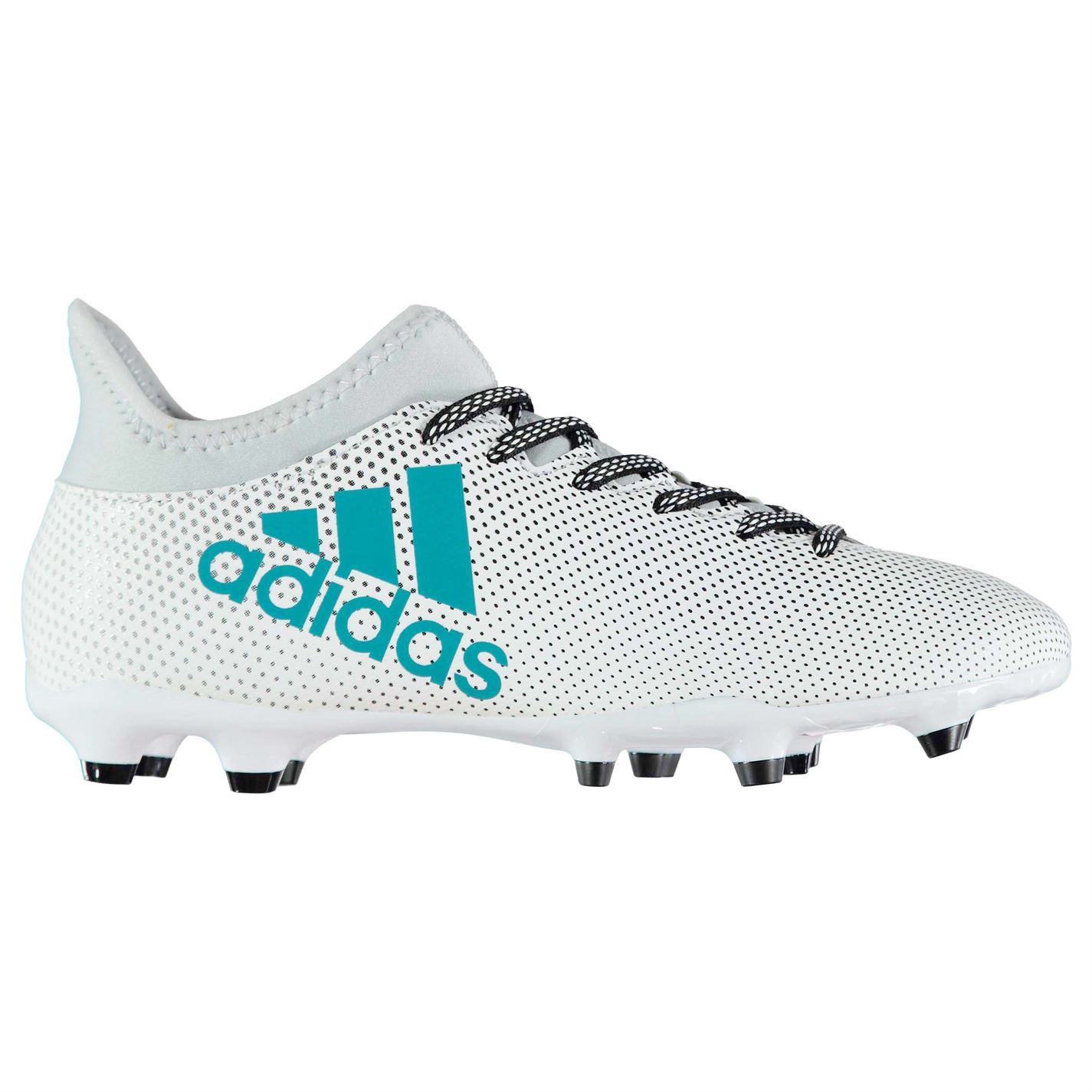 01cd10d047c ... adidas X 17.3 FG Firm Ground Football Boots Mens Wht Gry Blu Soccer  Cleats ...