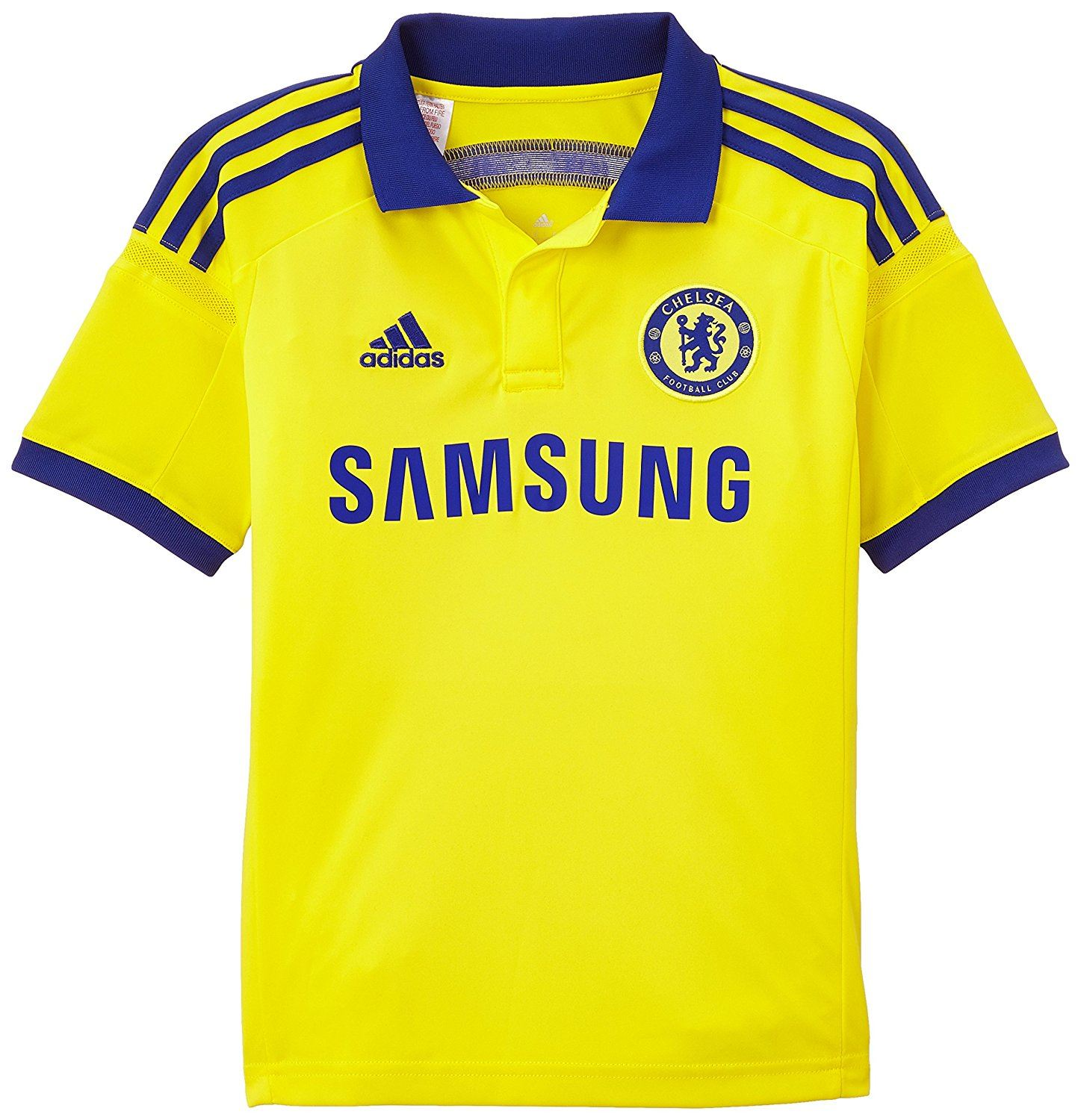 6ee11b6e9 adidas Chelsea 2014 2015 Away Jersey Mens Yellow Blue Football ...