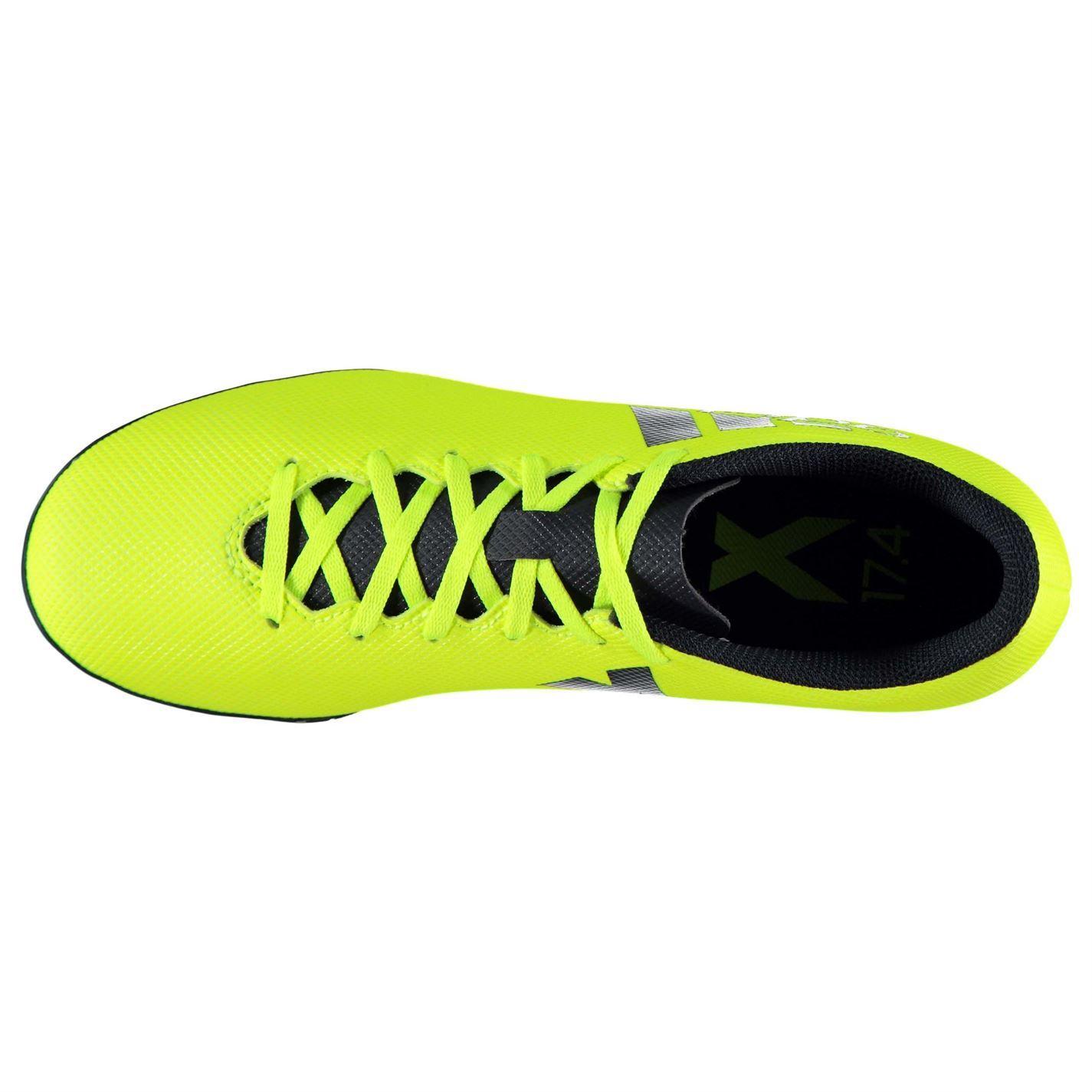 ca00a25de ... adidas X 17.4 Astro Turf Football Trainers Mens Yellow Ink Soccer Shoes  Sneakers