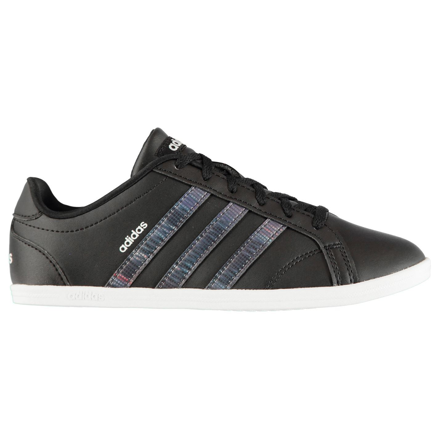 Details about adidas Coneo QT Womens Trainers Shoes Black Ladies Casual  Footwear