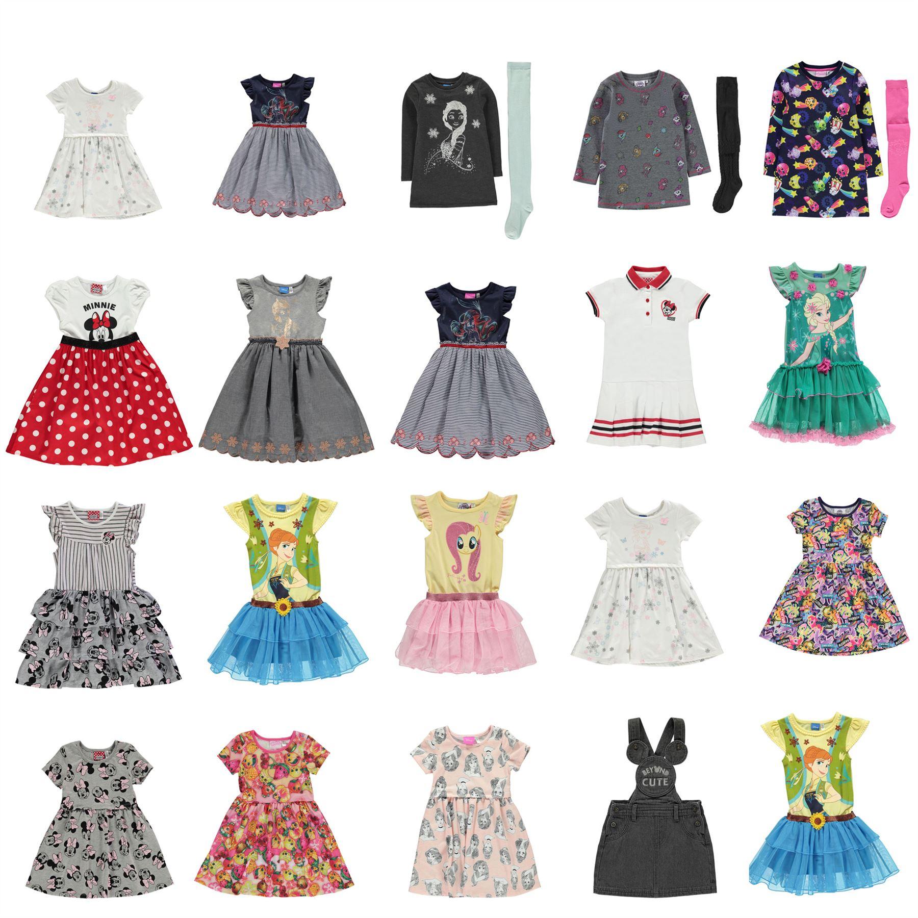 Character Dress Set Infant Junior Girls Skirt Frock Smock | eBay