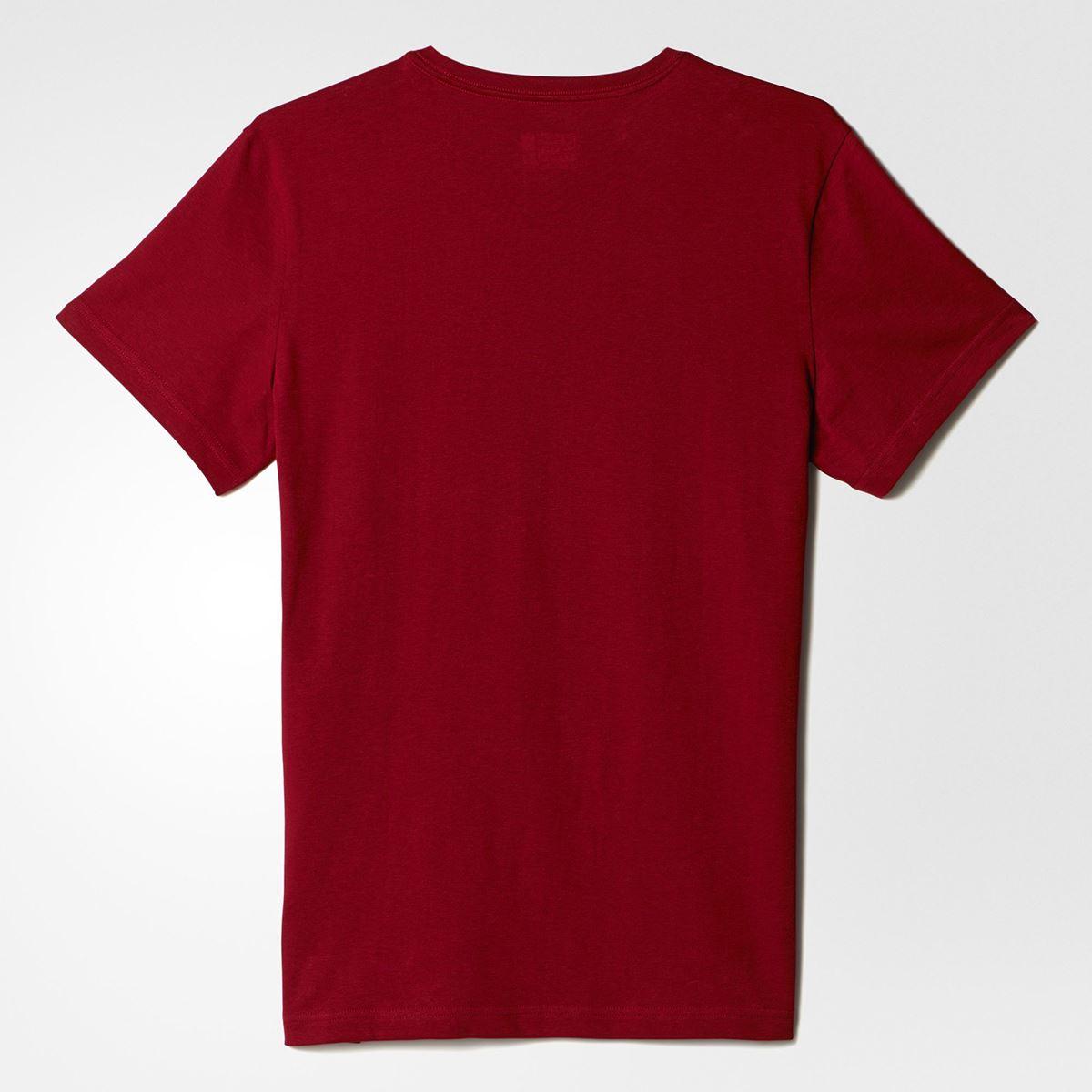 ... adidas Russia Climalite T-Shirt Mens Red Football Soccer Top Tee Shirt  ...