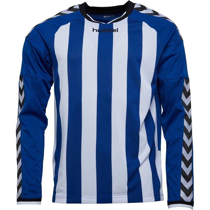 thumbnail 13 - Hummel-Long-Sleeve-Football-Shirt-Mens-Soccer-Jersey-Top-T-Shirt