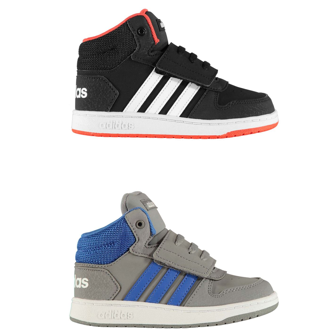 Details about adidas Hoops Mid Infants Trainers Boys Shoes Footwear