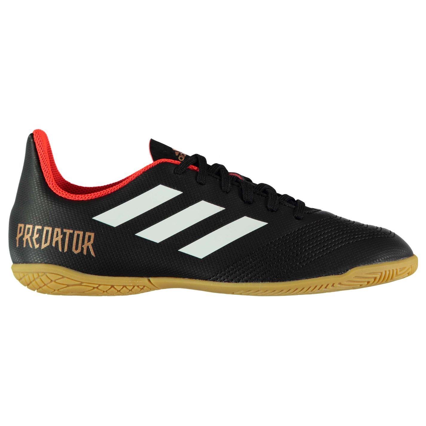 c762c60fe5ed ... adidas Predator Tango 18.4 Indoor Football Trainers Juniors Black  Soccer Shoes ...