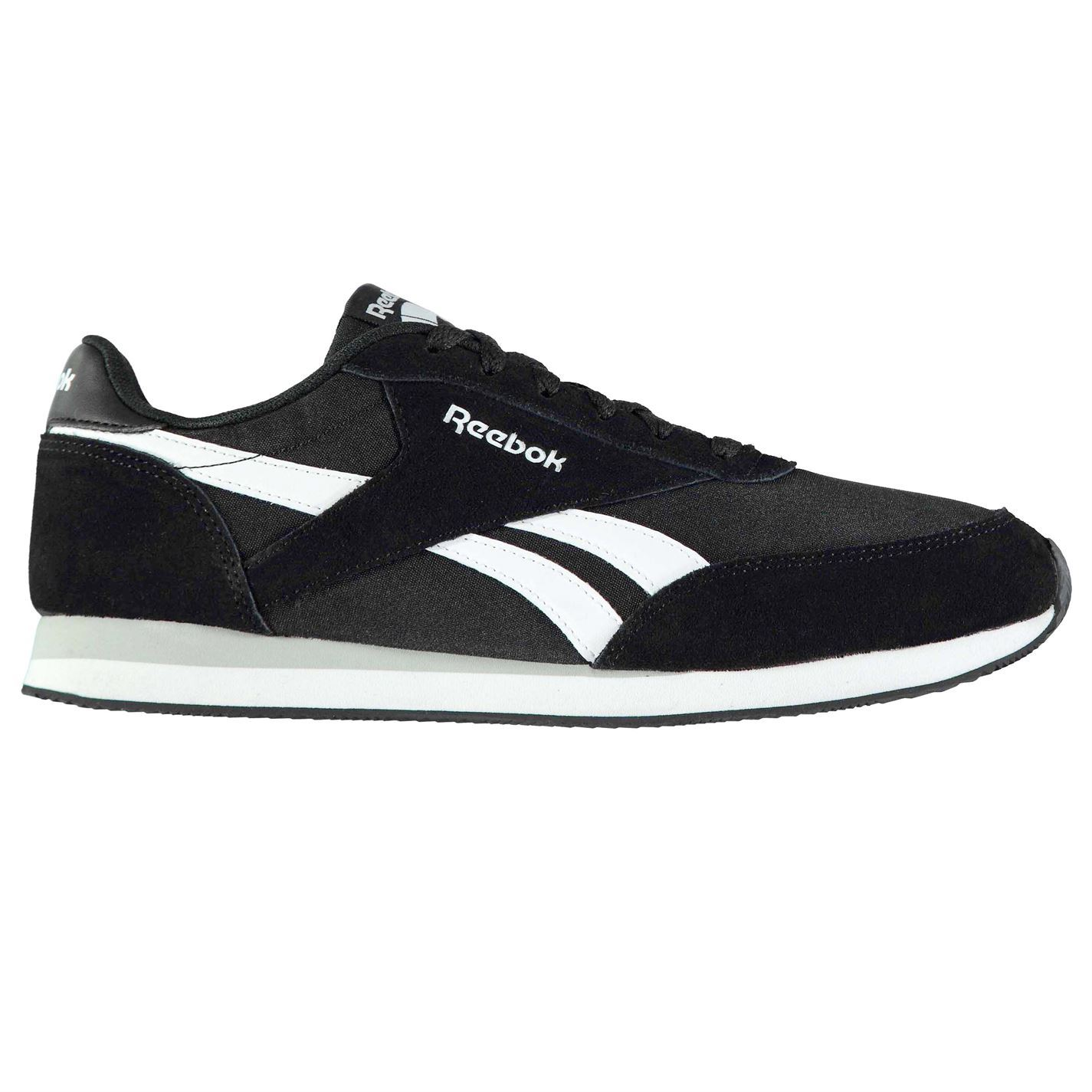 95f93702f85 Details about Reebok Classic Jogger Trainers Mens Black White Sports Shoes  Sneakers