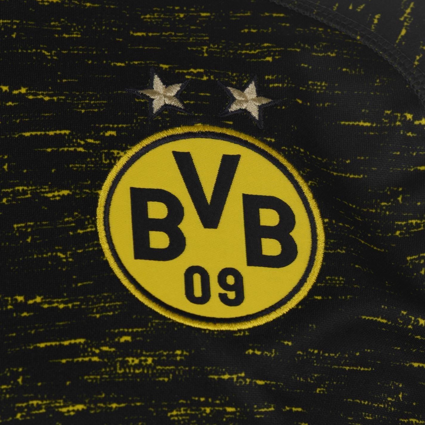 4387ba849 ... Puma Borussia Dortmund Away Jersey 2018 19 Mens Black Football Soccer  Shirt Top