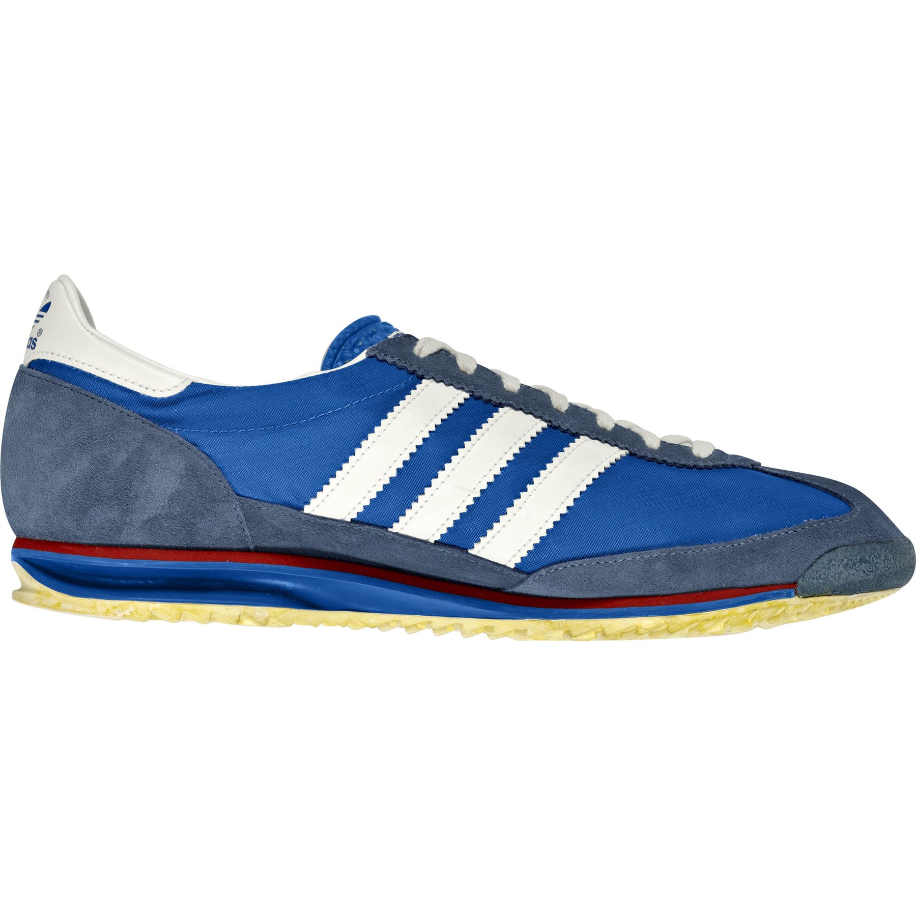 c5050a48d1e5 adidas Originals SL 72 Vintage Trainers Mens Blue Retro Sneakers Running  Shoes