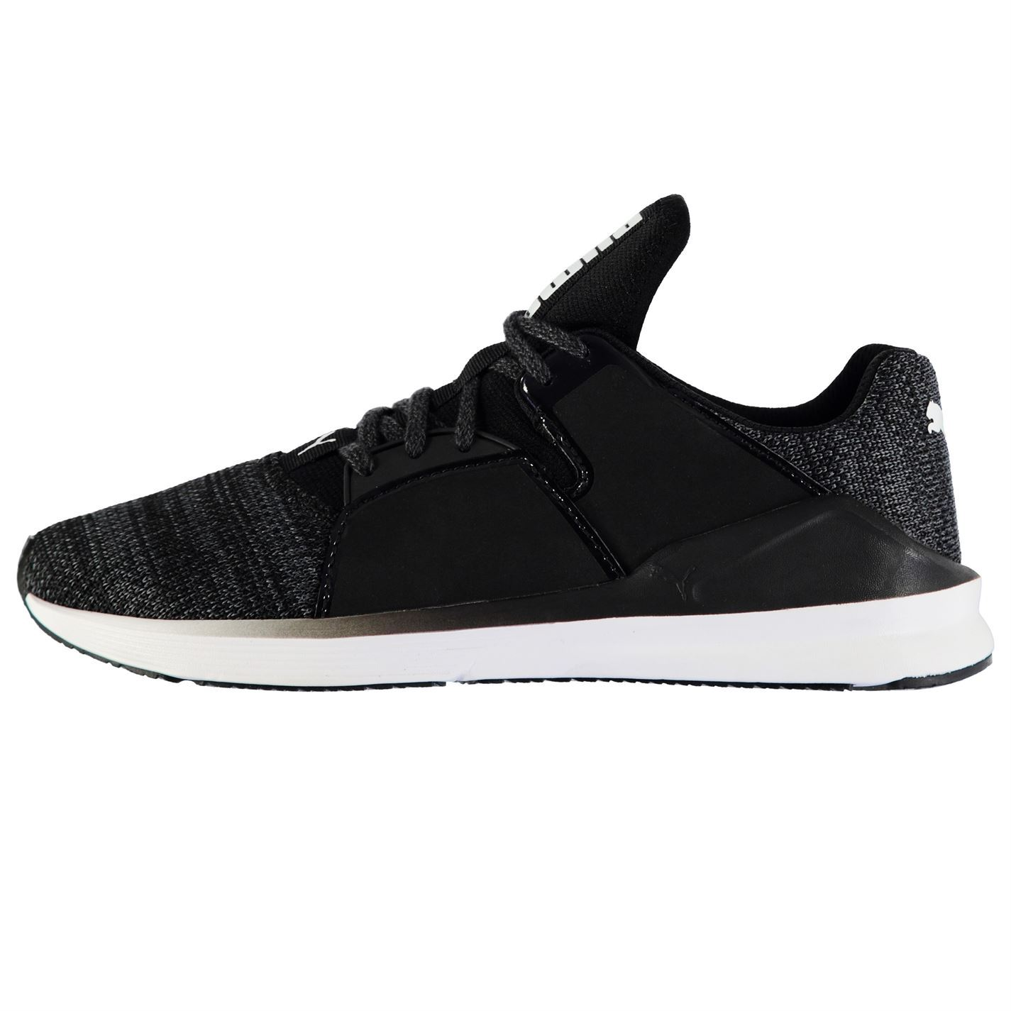9616c2b8ebf6 ... Puma Fierce Knit Running Shoes Womens Black White Run Jogging Trainers  Sneakers ...