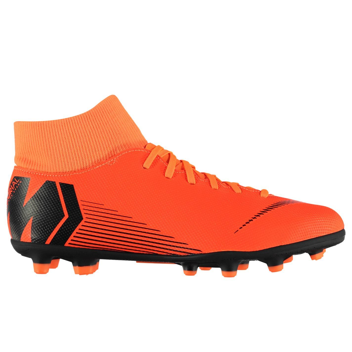 Details about Nike Mercurial Superfly Club Firm Ground Football Boots Mens  Orange Soccer Cleat 8f442b09c7f2
