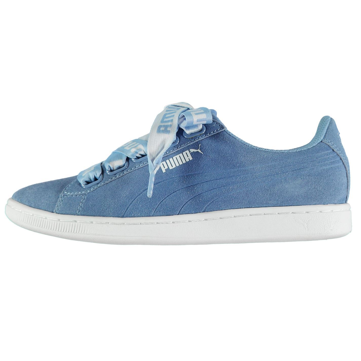 Details about Puma Vikky Ribbon Trainers Womens Blue Sports Trainers  Sneakers 5f8020d21