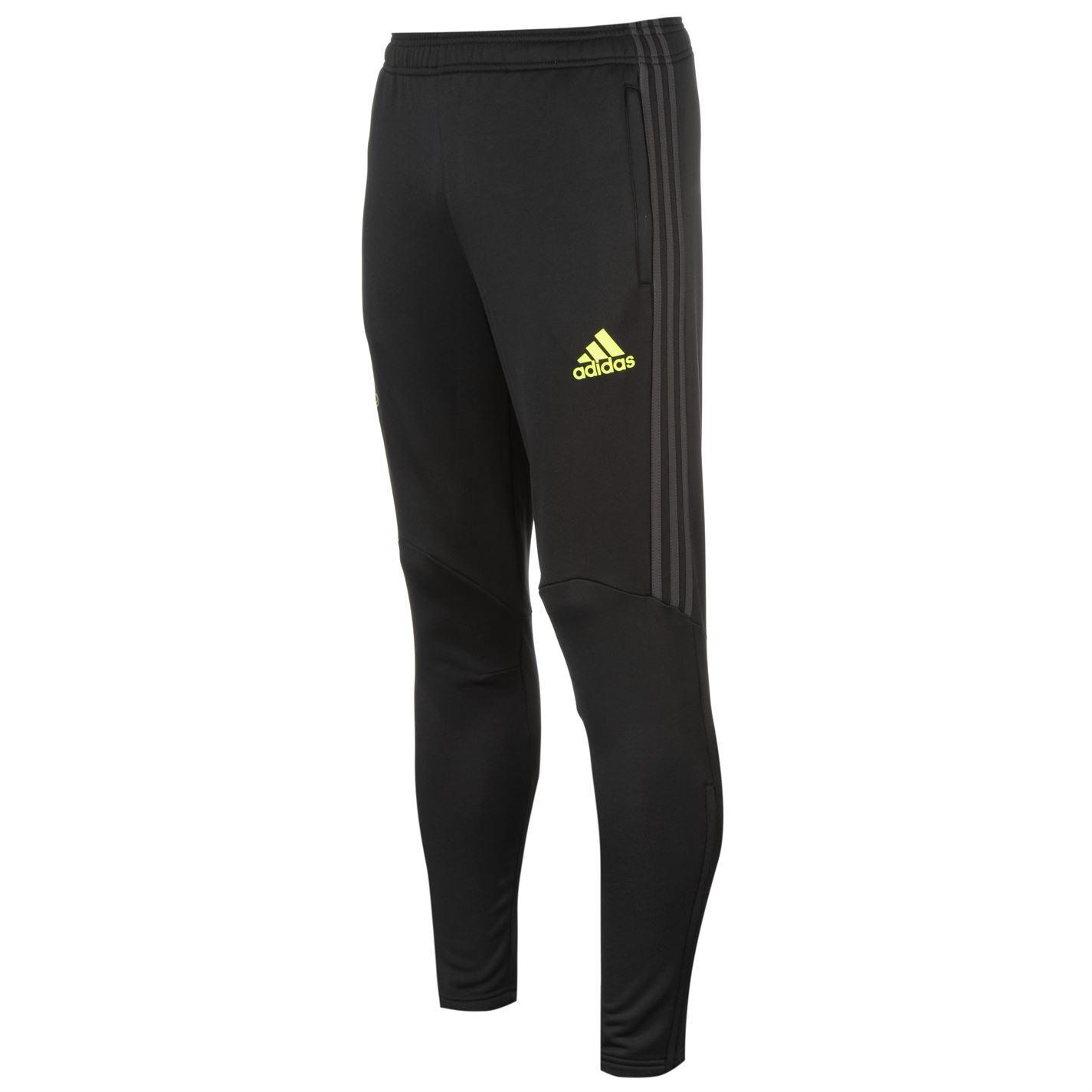 Adidas Chelsea Pre Match Track Pants Mens Black Yellow Football