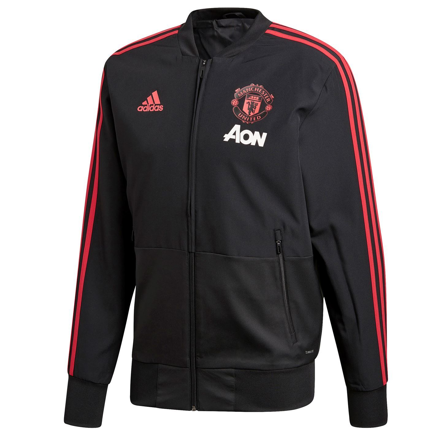 453fd375653a ... adidas Manchester United Pre Match Jacket 2018 19 Mens Football Soccer  Track Top