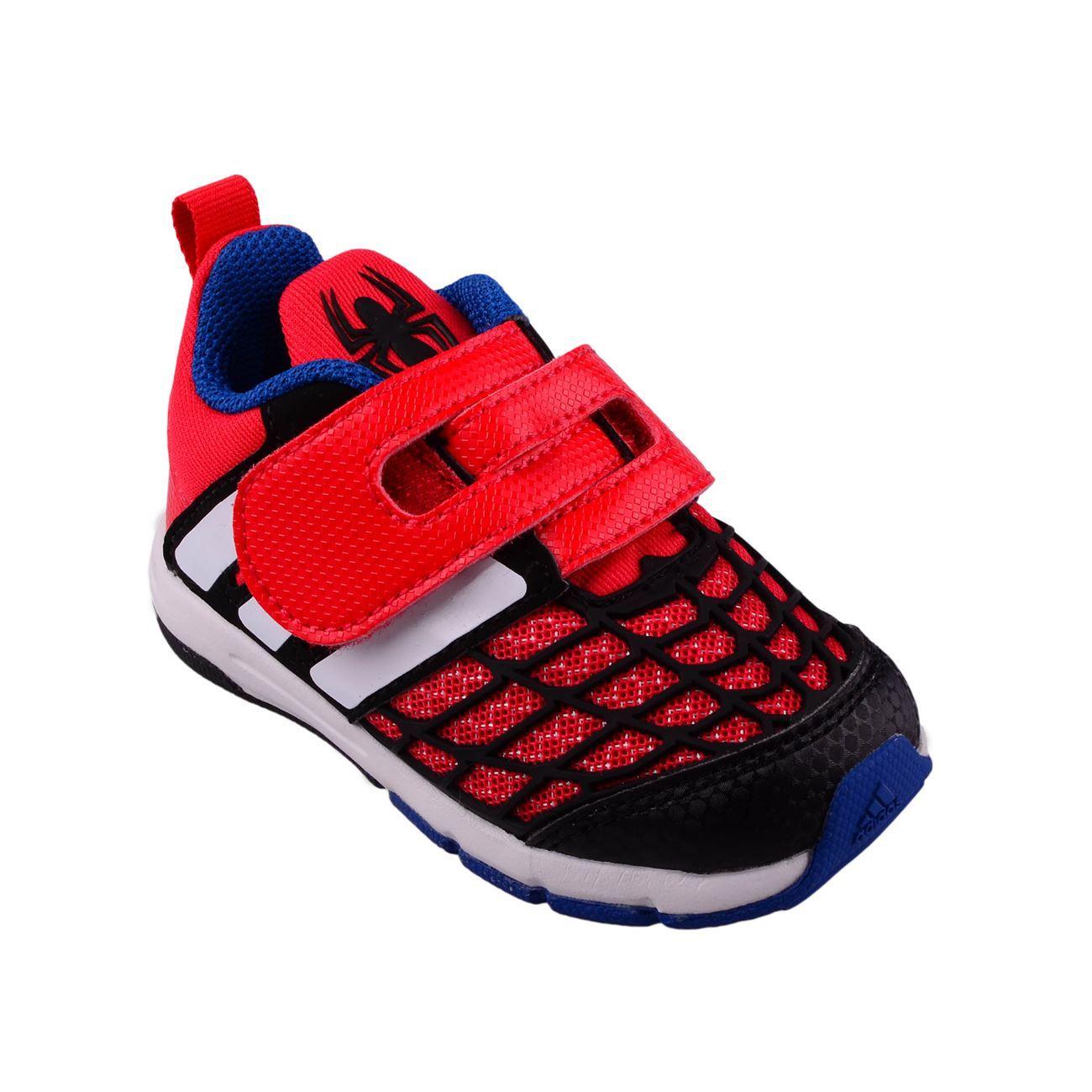 f69c7b093362ee ... adidas Disney Spiderman Cloudfoam Trainers Infants Rd Blk Sneakers  Marvel Comics ...