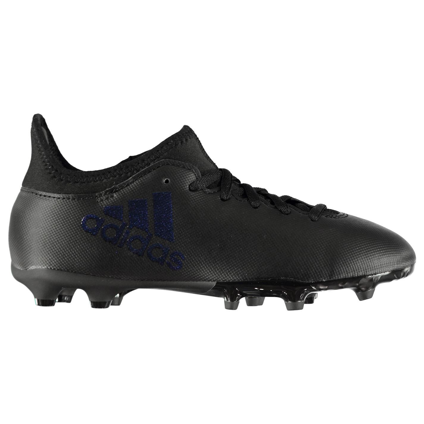 adidas X 16.3 FG Firm Ground Football Boots Juniors Black Soccer Shoes  Cleats 76d3dd7ca