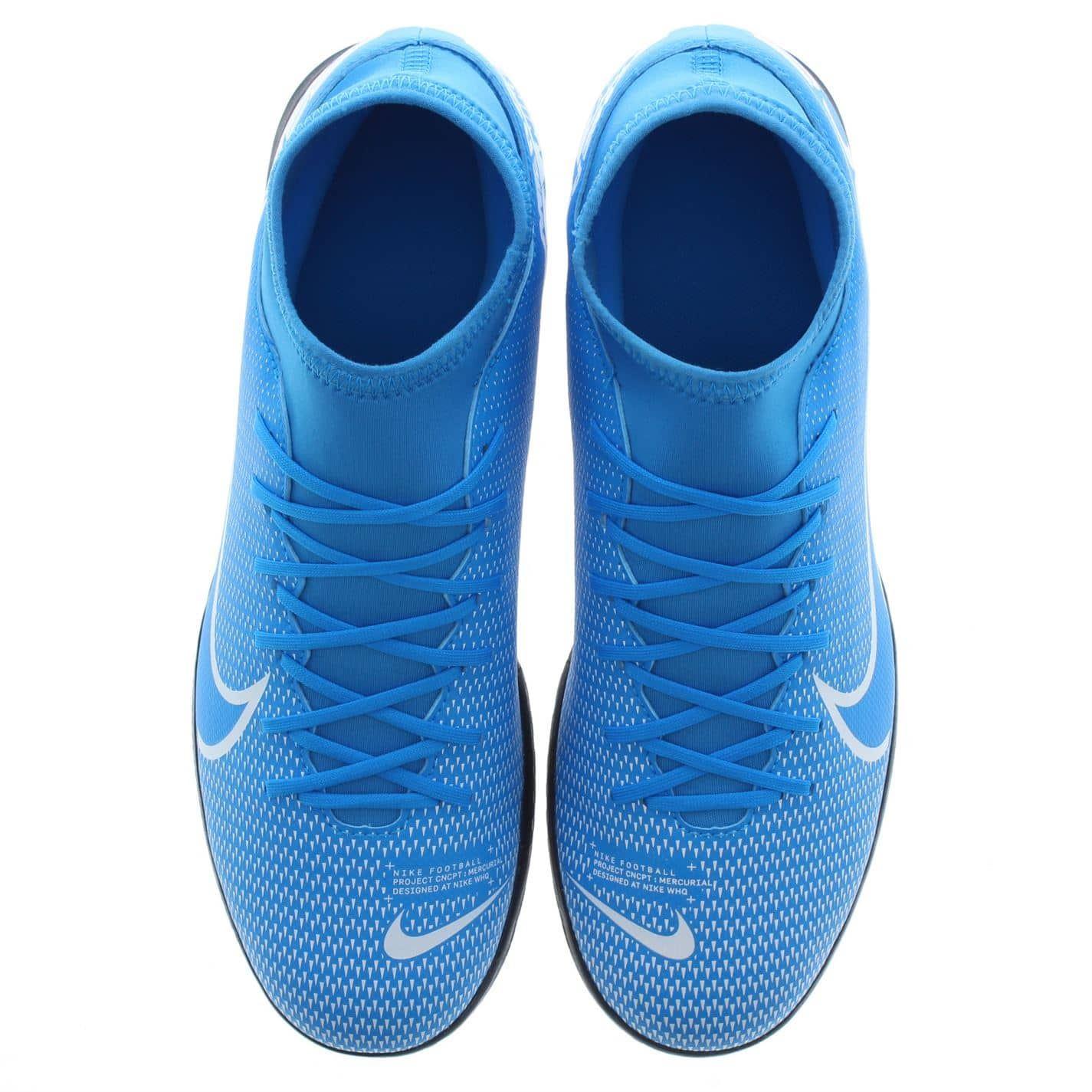 Détails sur Nike Mercurial Superfly Club Df Intérieur Football Bottes Hommes BleuBlanc