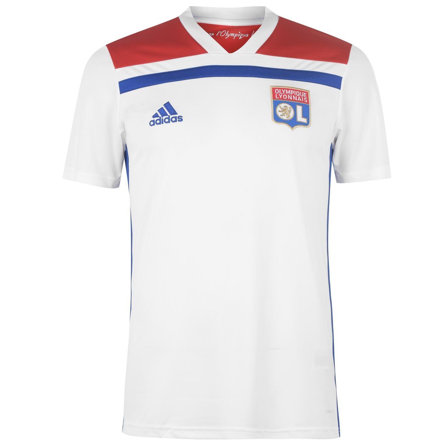 Détails sur Adidas Lyon Maillot Domicile 2018 2019 Hommes Blanc Football Haut Jersey