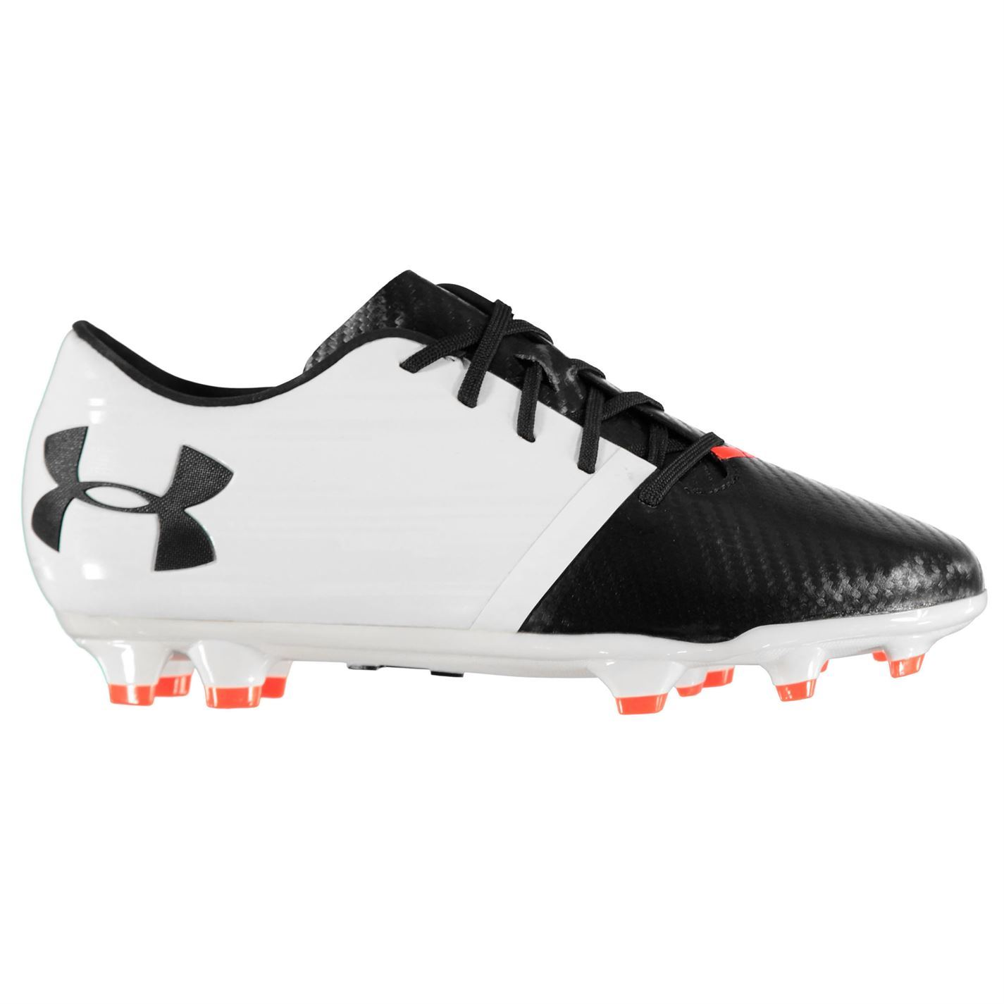 low priced 7724c 5fb68 ... Under Armour Spotlight BL FG Firm Ground Football Boots Mens White  Soccer Cleats ...
