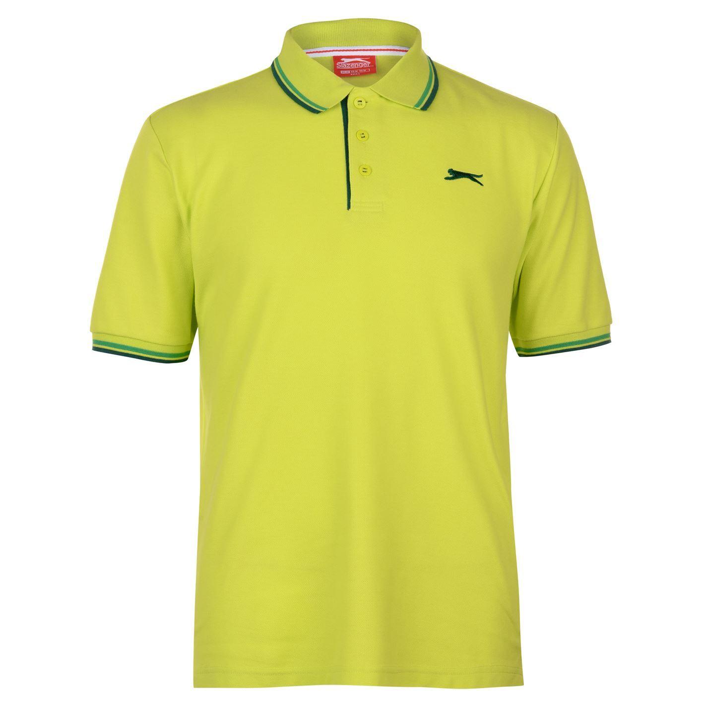 Slazenger-Polo-Camisa-de-hombre-con-cuello-con-Punta-T-Shirt-Top-Camiseta-Tee miniatura 45